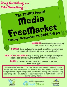 3rd Annual Media Free Market @ Providence Friends Meeting | Media | Pennsylvania | United States