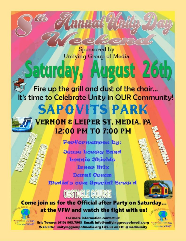 Media's 8th Annual Unity Day Weekend @ Sapovits Park | Media | Pennsylvania | United States